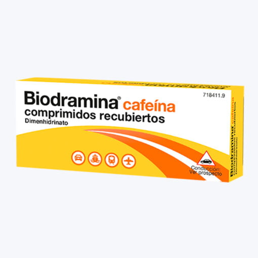 comprar BIODRAMINA CAFEINA 12 COMPRIMIDOS