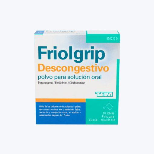 FRIOLGRIP DESCONGESTIVO 650/4/10 MG 10 SOBRES POLVO SOLUCION ORAL