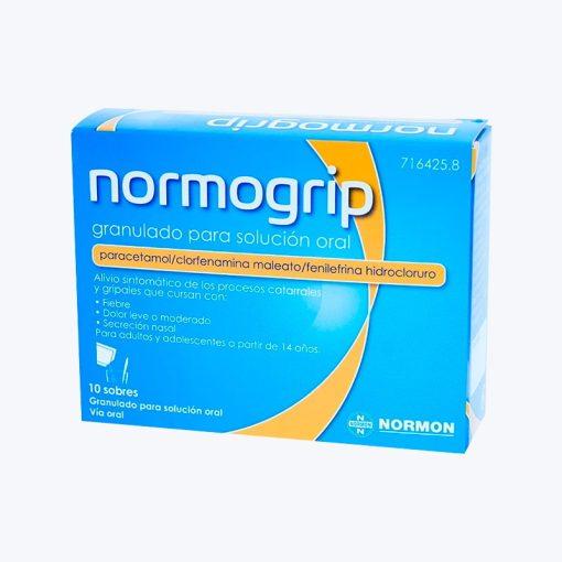 NORMOGRIP 650/4/10 MG 10 SOBRES GRANULADO SOLUCION ORAL