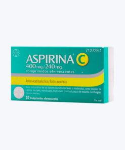 ASPIRINA C 400/240 MG 10 COMPRIMIDOS EFERVESCENTES