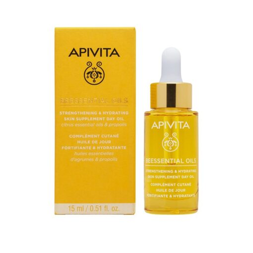 comprar apivita beessential oils aceite de dia suplemento para la piel refuerza e hidrata 15 ml
