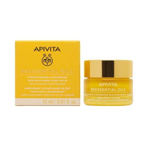comprar apivita beessential oils balsamo de noche suplemento para la piel refuerza y nutre 15 ml