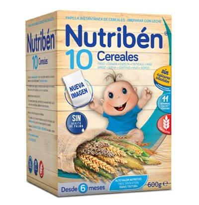 comprar NUTRIBEN PAPILLA 10 CEREALES 600G