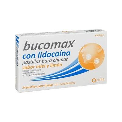 comprar BUCOMAX LIDOCAINA LIMON 24 PASTILLAS CHUPAR