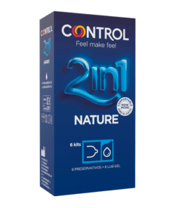 CONTROL 2 IN 1 NATURE + LUBE NATURE 6UNID